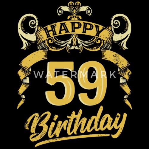 59 Jaar Verjaardag Gelukkige Bday Gift Van De Verjaardag Mannen