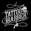 Rock Biker Tattoo & Barber Shop (Blanc Print) - T-shirt Premium Homme