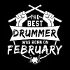 The best drummers were born in February - Men's Premium T-Shirt