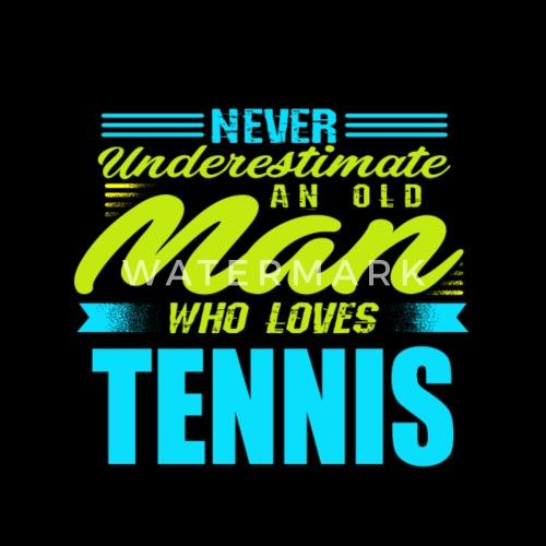 Gubben Tennis Premium T Shirt Herr Spreadshirt