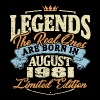 Real legends are born in august 1981 - Men's Premium T-Shirt