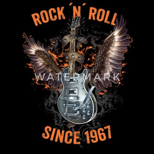 Rock N Roll Since 1967 Rahmenlos Geburtstags Geschenk Von Rahmenlos
