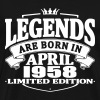 Legends are born in april 1958 - Men's Premium T-Shirt