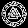 Vintage Valknut Odin symbol viking sign Pagan - Men's Premium T-Shirt