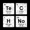 Techno - funny chemistry shirt - vintage elements - Men's Premium T-Shirt