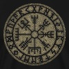 Vegvisir Futhark runes, Viking magic protection icon - Men's Premium T-Shirt