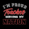 I'm Proud Teacher serving my nation - Men's Premium T-Shirt