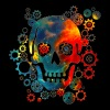 Skull, Space Pirate, Galaxy, Cosmos, Universe - Men's Premium T-Shirt