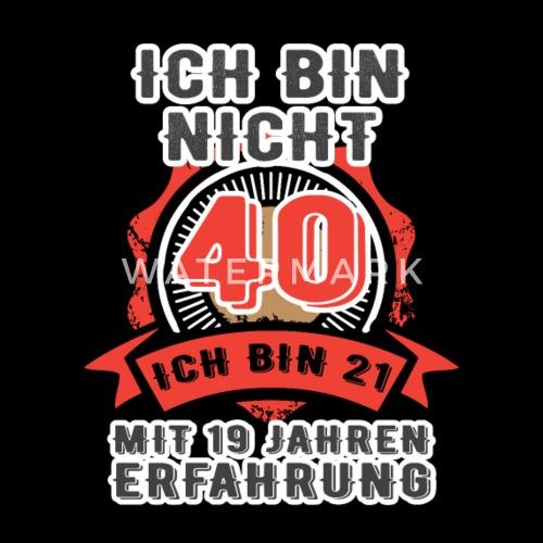 40 Geburtstag Geschenk Lustig T Shirt Jung Vierzig Manner Premium T
