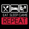 Eat, Sleep, Game Repeat T-Shirts - Männer Premium T-Shirt