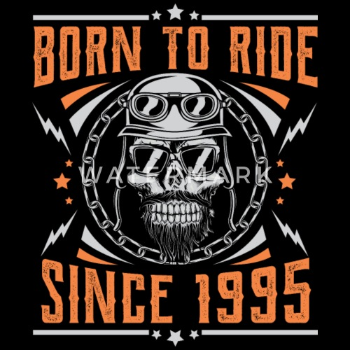 Born To Ride Since 1995 Biker Rocker Geburtstag Manner Premium T