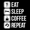 eat sleep coffee repeat - Men's Premium T-Shirt