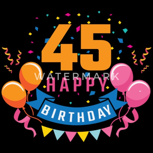 Verjaardag 45 Jaar