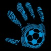 football soccer 8 handprint hand man - Men's Premium T-Shirt