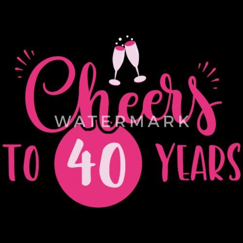 40 år gifta 40 Datum / år: Skål till 40 år Gift från Shirtiger | Spreadshirt 40 år gifta