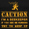 Warning: beekeeper - Men's Premium T-Shirt