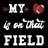 My Heart is on that Field - Football - Men's Premium T-Shirt