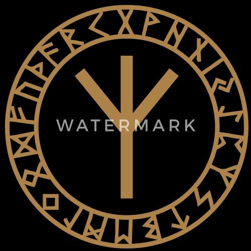 algiz rune amulette de protection odin runes t shirt. Black Bedroom Furniture Sets. Home Design Ideas