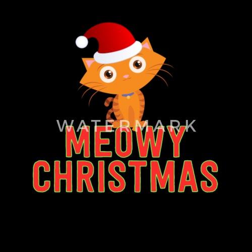 Frohe Weihnachten Lustige Bilder.Meowy Weihnachten Lustige Katze Frohe Weihnachten Urlaub Wortspiel Manner Premium T Shirt Schwarz