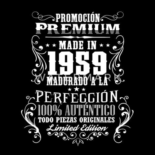 1959 59 Prime Cadeau D Anniversaire Vintage Es De Spreadshirt