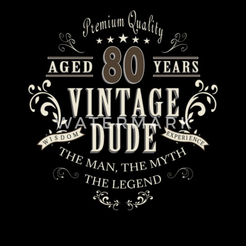 80th Birthday Vintage T Shirt Gift By Dapone