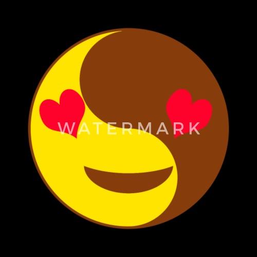 Yin Yang Emoji Heart Eyes Chinese Tai Chi Symbol By Fresh Dressed