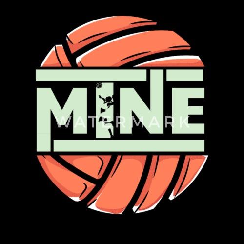 Funny Love Mine Volleybal Mannen Premium T Shirt Spreadshirt