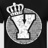 Stylish letter Y with crown - Men's Premium T-Shirt