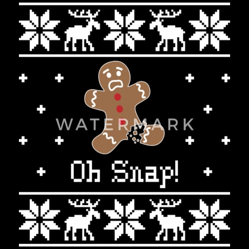 Oh Snap Ugly Sweater Mens Premium T Shirt Spreadshirt