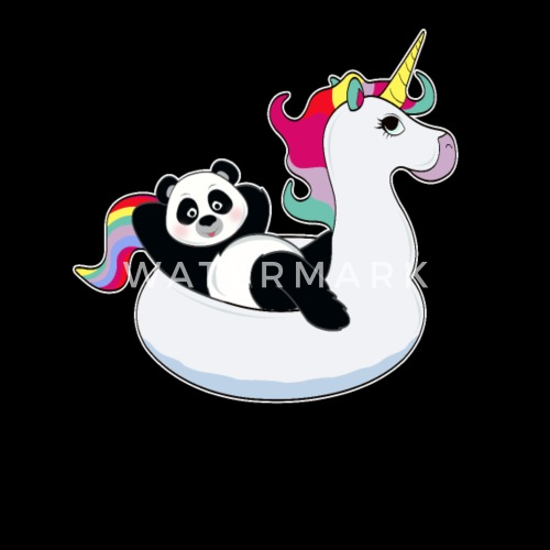 Panda Sur L Air Licorne Tapis Kawaii Ete Cool De Mucdesigns