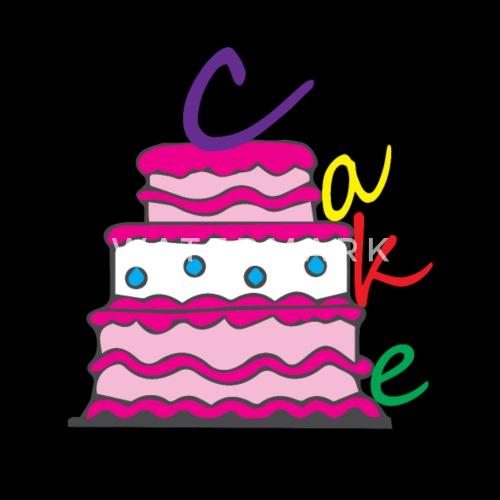 Happy Birthday Cake Mens Premium T Shirt