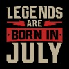 LEGENDS ARE BORN IN JULY - Männer Premium T-Shirt