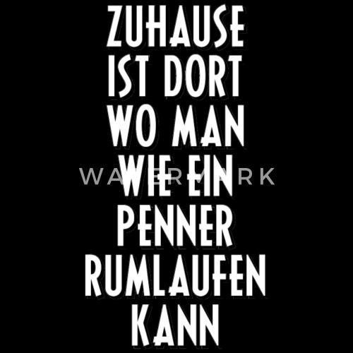 Penner Zuhause Chillen Couch Sprüche Spruch Faul Männer Premium T