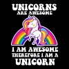 Unicorns are Awesome - Funny Unicorn Design - Men's Premium T-Shirt