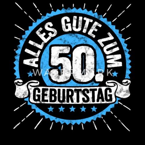 Alles Gute Zum 50 Geburtstag Top Geschenk Shirt Manner Premium T