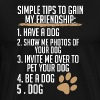 simple tips to gain my friendship - Men's Premium T-Shirt