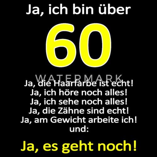 Ueber 60 geburtstag spruch lustig shirt geschenk g Männer ...