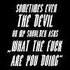 Sometimes even the devil asks wtf are you doing - Männer Premium T-Shirt