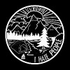 I hate People - Nature, Camping, Outdoor, Hiking - Men's Premium T-Shirt