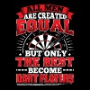 DARTS - ALL MEN ARE CREATED EQUAL - DART PLAYERS - Men's Premium T-Shirt