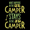 what happens in the camper... - Premium-T-shirt herr