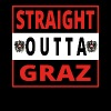 Straight outta Graz - Men's Premium T-Shirt