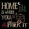 RVing Home Is Where You Park It - Men's Premium T-Shirt