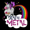 Death Metal Unicorn - Mannen Premium T-shirt