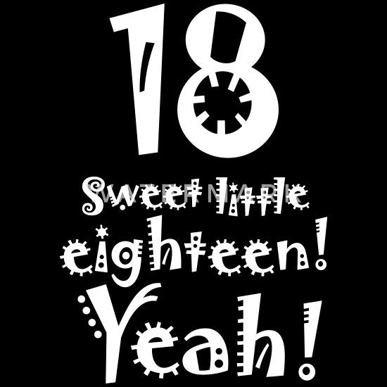 Verwonderlijk 18e verjaardag lief klein achttien 18 jaar oud Mannen premium T ON-12