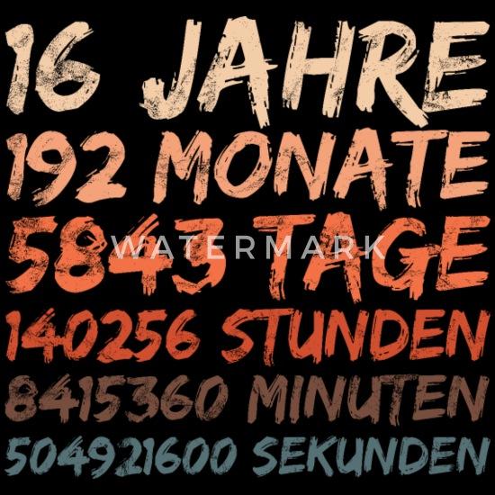 16 Jahre Geburtstag Hochzeitstag Jubiläum Männer Premium T Shirt Schwarz