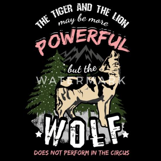 Wolf Zitat Spruch Löwe Und Tiger Zirkus Männer Premium T Shirt Schwarz