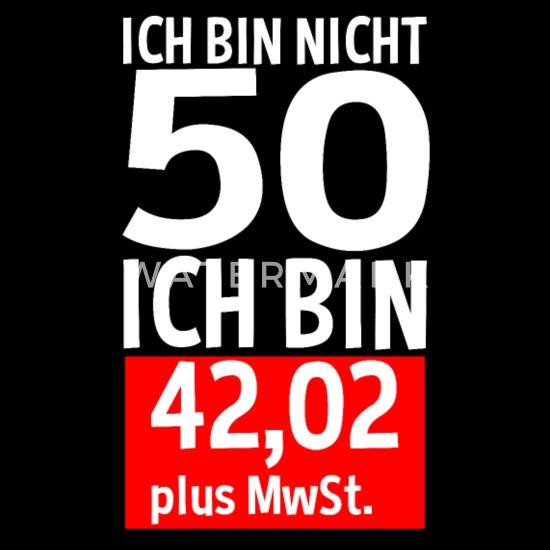 50 Jahre Plus Mwst 50 Geburtstag Spruch Geschenk Männer Premium T Shirt Schwarz