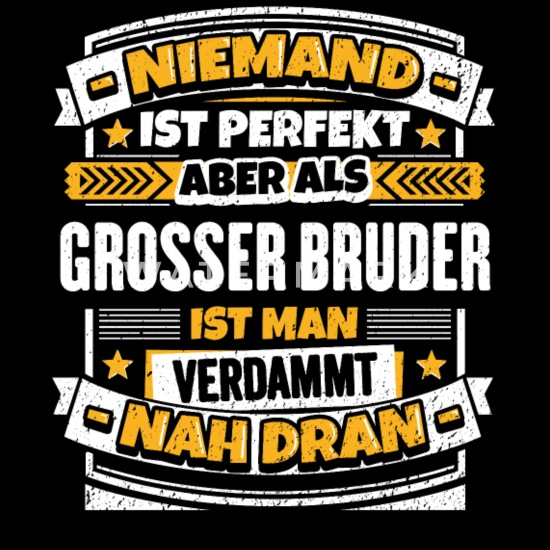Lustiger Großer Bruder Spruch Männer Premium T Shirt