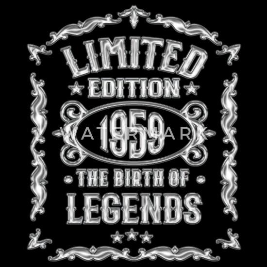 Schild Retro Vintage Geburtstag 60 60er sechzig Jahrgang 1959 Geschenk